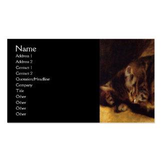Sleeping Cat by Renoir Pack Of Standard Business Cards