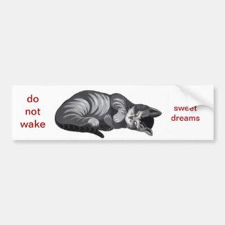 sleeping cat car sticker