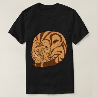 Sleeping Cat (Curled Up) Classic Tabby Orange T-Shirt