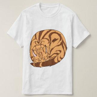 Sleeping Cat (Curled Up) Classic Tabby Orange Tshirt