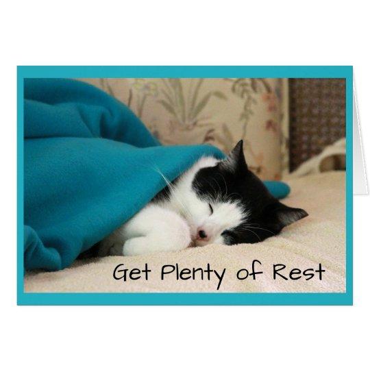 Sleeping Cat Get Well Card