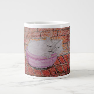 Sleeping Cat Jumbo Mug