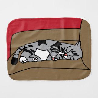 Sleeping Cat Olivia Burp Cloth
