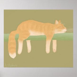 Sleeping Cat Poster Paper (Matte)
