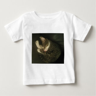 Sleeping Cat with Tongue Haniging Out Baby T-Shirt