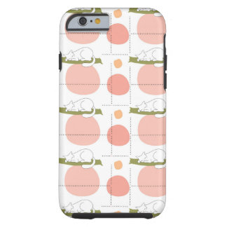 Sleeping Cats and Big Dots Pattern Girly Tough iPhone 6 Case