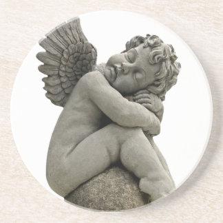Sleeping Cherub Angel Sculpture Coaster