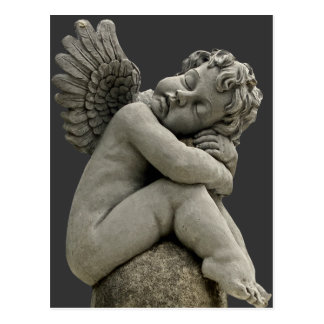 Sleeping Cherub Angel Sculpture Post Card. Postcard
