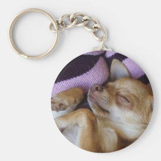 Sleeping Chihuahua Key Ring