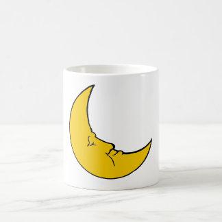 Sleeping Crescent Moon Basic White Mug