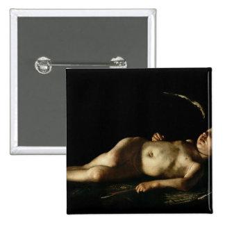 Sleeping Cupid, 1608 15 Cm Square Badge