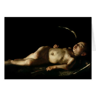 Sleeping Cupid, 1608 Card