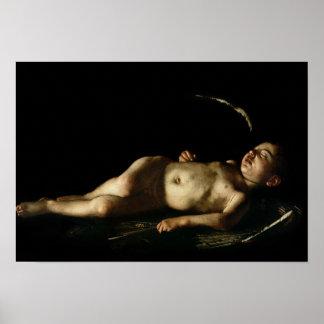 Sleeping Cupid, 1608 Poster