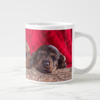 Sleeping Dachsund Puppies Large Coffee Mug