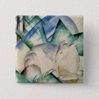 Sleeping Deer 15 Cm Square Badge