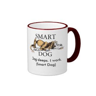 Sleeping dog cup ringer mug