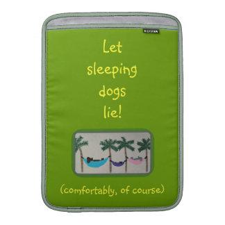 Sleeping dogs Macbook Air sleeve
