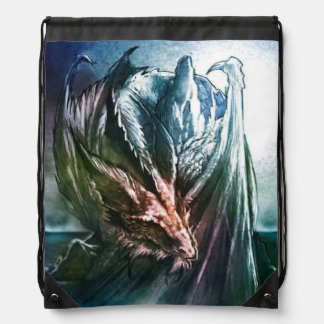 Sleeping dragon drawstring bag