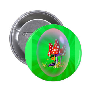 SLEEPING ELF LIGHT RAYS by SHARON SHARPE Pinback Button
