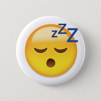 Sleeping Face Emoji 6 Cm Round Badge