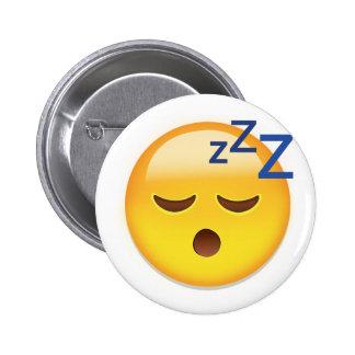Sleeping Face Emoji 6 Cm Round Badge
