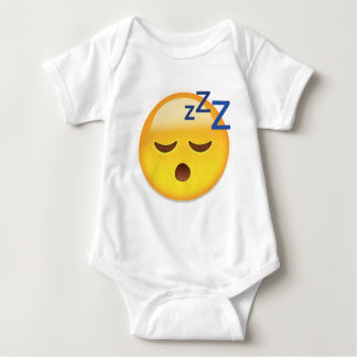 Sleeping Face Emoji Baby Bodysuit