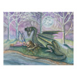 Sleeping Fairy and Dragon Poster Print
