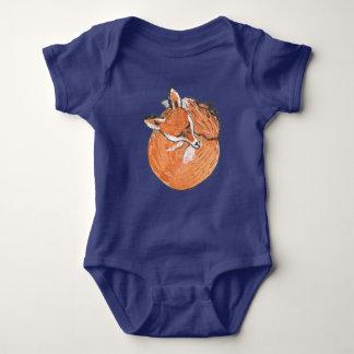 Sleeping Fox Baby Bodysuit
