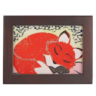 Sleeping Fox Keepsake Box