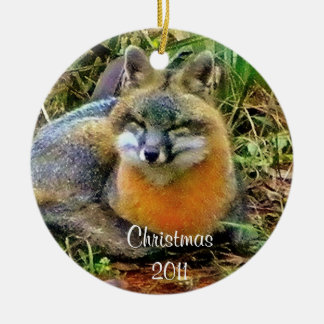 Sleeping Foxes  Christmas ornament