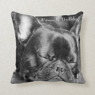 Sleeping French Bulldog Throw Pillows