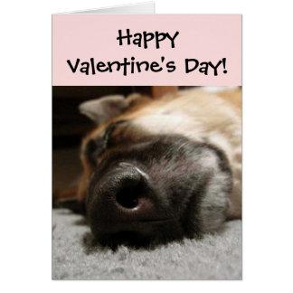 Sleeping German Shepherd Valentine's Day Card