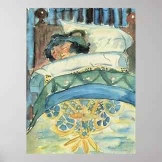 Sleeping girl (II) by Walter Gramatte Poster