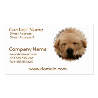 Sleeping Golden Retriever Business Card