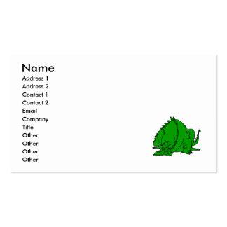 Sleeping Green Dragon Business Card Templates