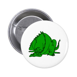 Sleeping Green Dragon Pinback Button