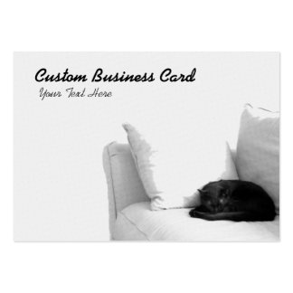 Sleeping Grey Cat on White Sofa Pack Of Chubby Business Cards