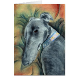 Sleeping Greyhound (a392) Card title=