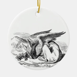 Sleeping Griffin Christmas Ornament