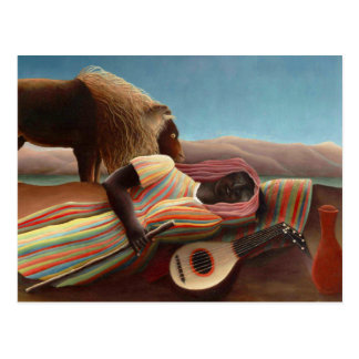 Sleeping Gypsy by Henri Rousseau Postcard