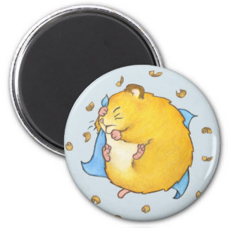 Sleeping Hamster Ted Magnet
