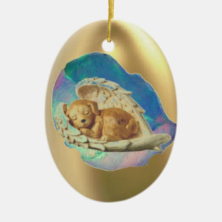 Sleeping Hatchling Winged Puppy Christmas Ornament
