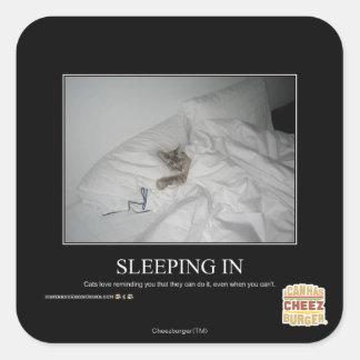 Sleeping In Square Sticker