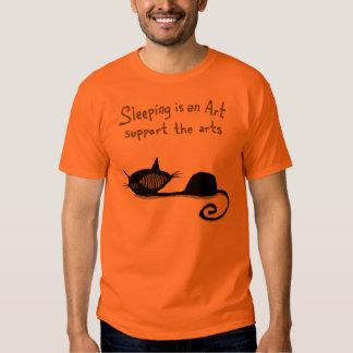 Sleeping is an Art Cat Shirt