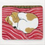 Sleeping Jack Russell Puppy Dog Art Mousepad
