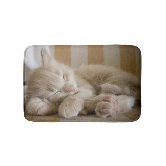 Sleeping Kitten Bath Mat