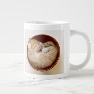 Sleeping Kitten Large Coffee Mug