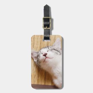 Sleeping Kitten Luggage Tag