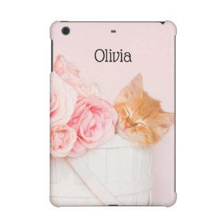 Sleeping Kitten Pink Roses