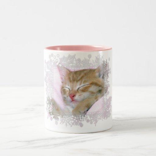 Sleeping Kitten Tag 1 - Coffee/Tea/Cocoa Mug